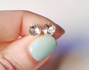 925 Silver earrings, crystal earrings, swarovski crystal-gift mother