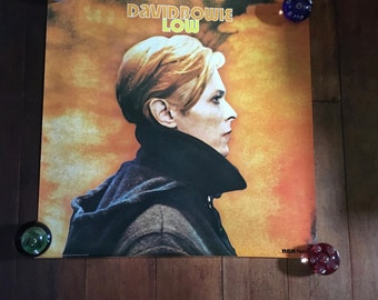 David Bowie Low RCA Records & Tapes Rare Original Vintage Music Poster