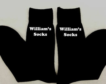 Personalised Men Mens Socks ANY MESSAGE Any Name Gift Birthday Present Embroidered Message Husband Grandad Uncle Underwear