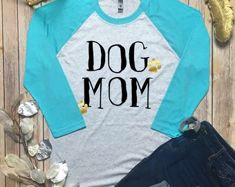 Fur Mama Shirt - Dog Shirts - Dog Lover Tee Shirt - Dog Mom Raglan - Proud Dog Mama Shirt - #Dog Mom Tee - Dog Mom Top - Funny Dog Lover Tee