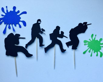 Paintball Cupcake Toppers (12)
