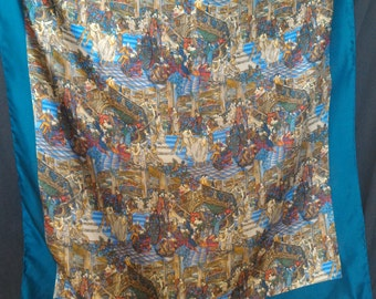"SALE! Vintage Liberty of London Silk Handrolled ""1920's Party"" Scarf"