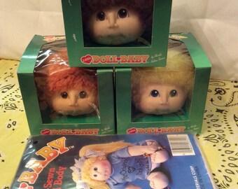 Vintage Little Baby Doll Heads w/ Doll Body/doll Making Martha Nelson Thomas/Crafts