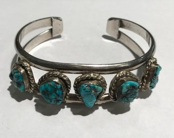 Sterling Silver Southwestern & Turquoise Cuff