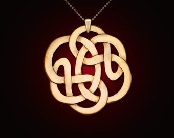 Infinity of vesica piscis, infinity necklace, infinity knot, celtic jewelry, celtic knot necklace, Vesica piscis, magic jewelry,