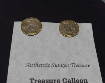 Treasure Galleon-Authentic Sunken Treasure Earrings