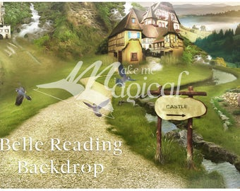 Beauty and the beast backdrop | Belle Background | Belle Reading | Village Backdrop | Belle Backdrop | French Village Backdrop