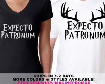 "Harry Potter ""Expecto Patronum"" Spell Shirts"