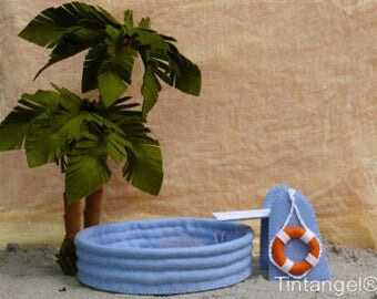 Swimming Pool - Mouse resort - PDF pattern - Instand download