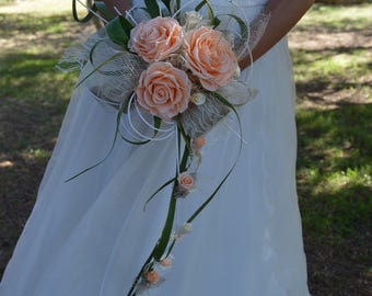 Wedding Bouquet Promesse preserved flowers - Keep Your Bride Bouquet - Preserved Natural Flowers