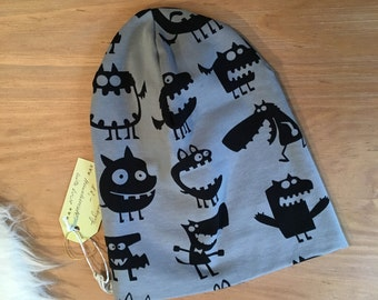 Cap 74/80 baby toddler Monster Jersey double layer