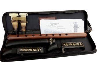 Professional Armenian DUDUK Key A Apricot Wood Oboe Balaban Woodwind Instrument-leather case,Playing Instruction - tuned by Norayr Jamharyan