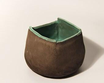 Square tray - bread bowl ceramic