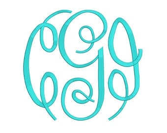 Fancy Monogram Embroidery Font 3 Size Font Machine Embroidery Font Instant Download 9 Formats Embroidery Pattern PES and BX