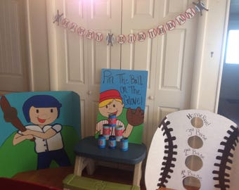 Baseball party pack Baseball party decorations and games