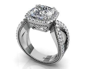 Liaison 3.50 CT TW 14K Diamond Engagement Ring