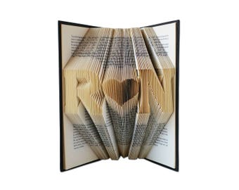 Folded Book Art - Anniversary Gift - 1st Wedding Anniversary -Gift for Him - Gift for Her - Wedding Present - Personalized Gift