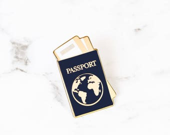 Passport Enamel Pin