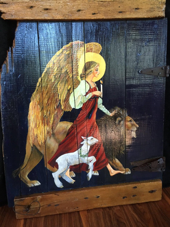 angel lion lamb lion and the lamb angels lions lambs