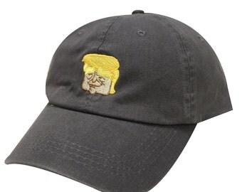 Capsule Design Trump Emoji Cotton Baseball Dad Cap Dark Grey