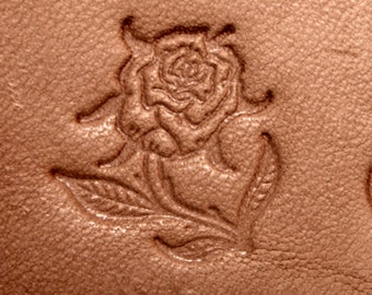 Rose On Stem With Thorns Leather Stamping Tool (Facing Left)