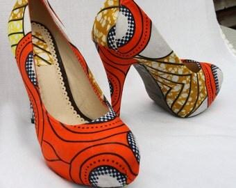 Ankara Platform Heels, Size 6.5