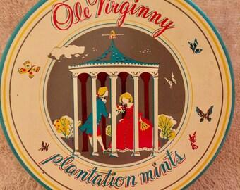 Old Virginny Plantation Mints Collectible Tin