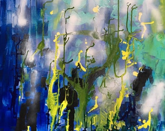 Ocean blues, greens and yellows II (SOLD)