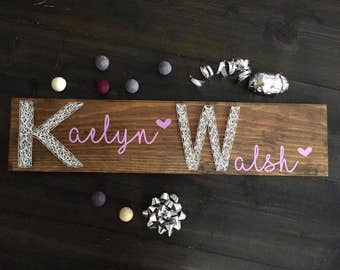 Custom Name Board - Birthday Gift - Baby Shower Gift - Girls Room Decor - Boys Room Decor - Office Decor - Business Logo - String Art Name