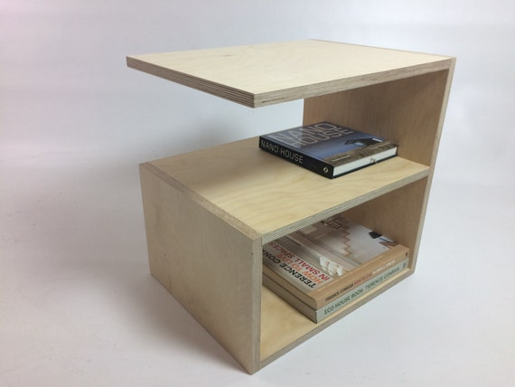 Funky Bedside Table Birch Plywood