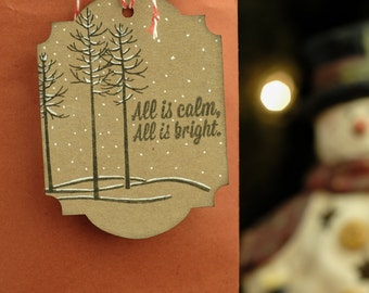 All is Calm & Bright Gift Tags 4-pack (identical)