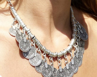 Babylon silver necklace / / / Gypsy / Boho style