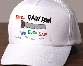 Personalized saw hat Custom Name Gift