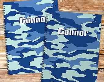 Personalized Camoflage Notebook set Custom Name Gift