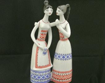 Hallohaza Hungary handpainted Gossiping Girls