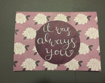 Romantic Card- It Was Always You- For Boyfriend- For Girlfriend