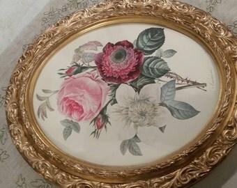 Pair of Gilt Ornate oval frames