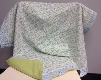 I love Mommy ... I love Daddy baby blanket, handmade