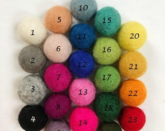 Custom Made Felt Ball Garland - Any mix of colours