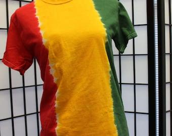 Rasta Fade Tie Dye Shirt Adult XL