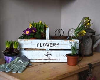 Wooden Flowers Crate