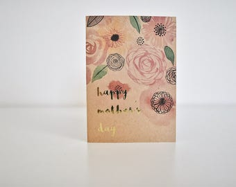 "Gold Floral ""Happy Mother's Day"" 