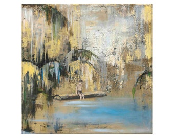 "Print ""Above the Water"" 50x50 cm, reproduction, Fine Art Giclée"