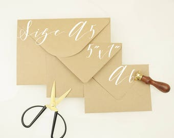 Kraft Envelopes, Kraft Envelopes,  C6 Kraft Envelopes, C5 Kraft Envelopes, Brown Envelopes, Flecked Envelopes, Vintage Envelopes,Envelope