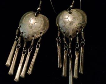 Vintage Sterling Silver Heart Earrings