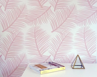 Wallpaper Palm Leaf Garden in Blush Wall Decor Decoration Tropical Palm Leaves Trees Wallpaper