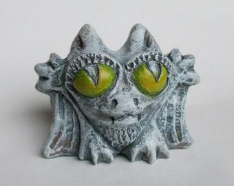 "Ceramic figurine ""Bat"". interesting miniature ceramic sculpture. Bat."