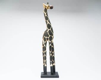 African giraffe sculpture, African art, wooden sculpture, Tribal art, african craft, ethnic art, sculpture, home decor