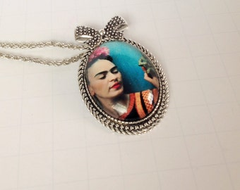 Frida Kahlo Necklace Pendant on chain Pendant Frida Kahlo Beautiful Pendant
