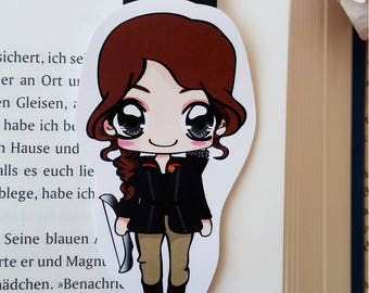 "Magnetic bookmarks ""Katniss"" - inspired by the hunger games"